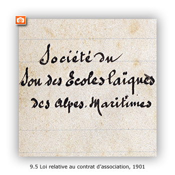 Loi du 1er juillet 1901, relative au contrat d'association : registre de déclaration des associations des Alpes-Maritimes, 1901-1902