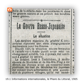 Informations internationales, le Phare du  Littoral, 1905