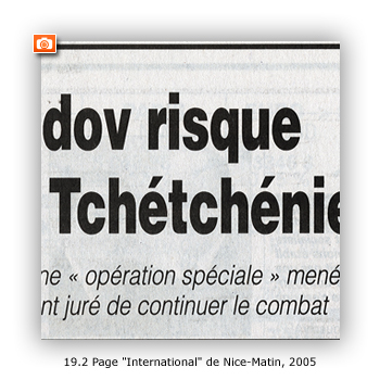 "Page ""International"" de Nice-Matin, 2005"