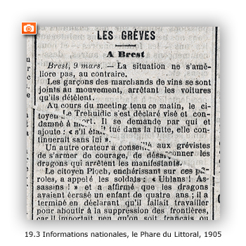 Informations nationales, Le Phare du Littoral, 1905